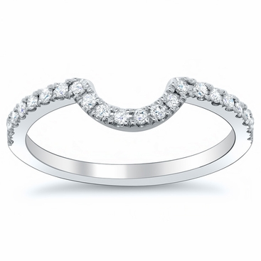 Curved Diamond Wedding Band - click to enlarge