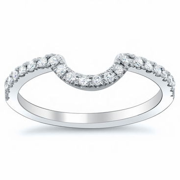 Curved Diamond Wedding Band Click To Enlarge