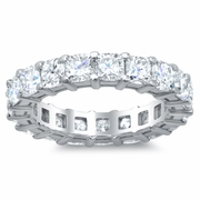 Cushion Diamond Eternity Wedding Ring