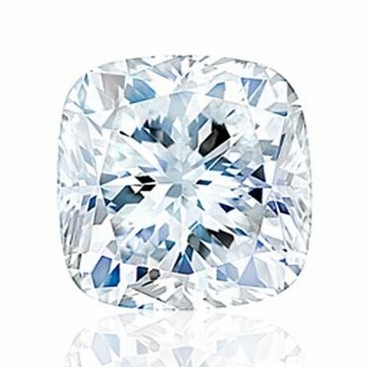 Charles and Colvard Cushion Forever One Moissanite - click to enlarge