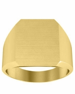 Cut Corners Mens Signet Ring