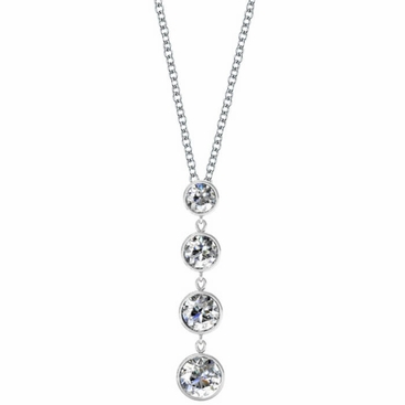 Dangling Diamond Pendant Necklace - click to enlarge