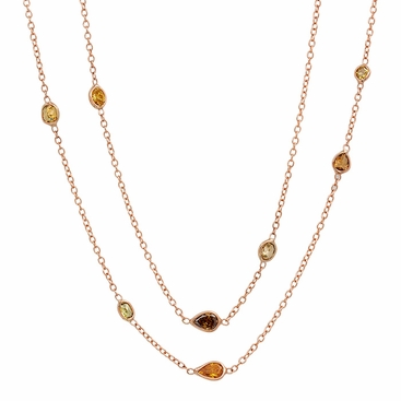 Dark Fancy Colored Diamond Sprinkle Necklace - click to enlarge