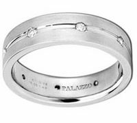Designer Palladium Men's Ring 6mm Diamonds