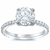 Diamond Accented Diamond Engagement Ring