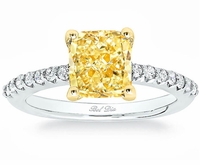 Diamond Accented Yellow Diamond Engagement Ring