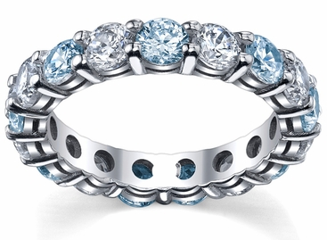 diamond and aquamarine wedding ring click to enlarge - Aquamarine Wedding Ring