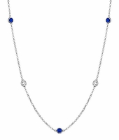 Gemstones by the Inch Necklace with Blue Sapphire