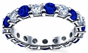 Diamond and Sapphire Ring 3.00cttw