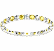 Diamond and Yellow Sapphire Eternity Ring 0.70cttw