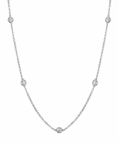 Diamond Chain Necklace, F-G/VS, 0.50 cttw