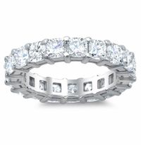 Diamond Cushion Eternity Wedding Band