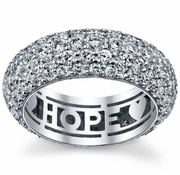 Diamond Eternity Ring in Domed Pave Setting