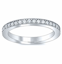 Diamond Eternity Ring Single Row Pave 2mm