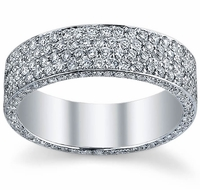 Diamond Eternity Ring with Micro Pave in 6 Rows
