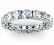 Diamond Eternity Wedding Band Four Prong Setting