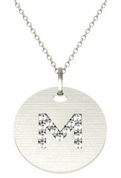 Diamond letter pendant diamond letter pendant click to enlarge aloadofball Image collections