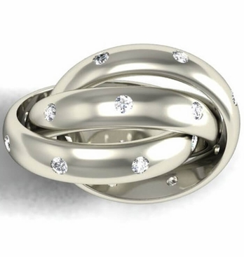 Diamond Russian Wedding Ring - click to enlarge