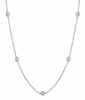 1 Carat Diamond Necklace, G-H/I1 Diamonds