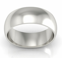 Domed Palladium Men's Wedding Band in 8 mm