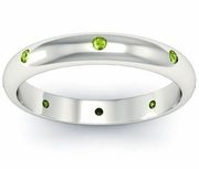 Domed Peridot Landmark Eternity Ring