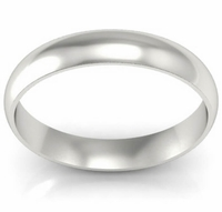 Domed Wedding Band in 18k 4mm