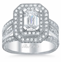 Double Halo Engagement Ring 2.30 cttw