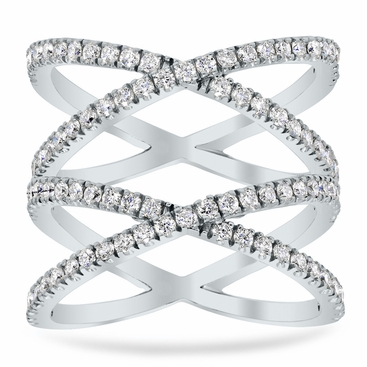 Double X Pave Ring - click to enlarge