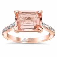 East-West Morganite Engagement Ring