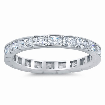 East-West Radiant Diamond Eternity Ring - click to enlarge