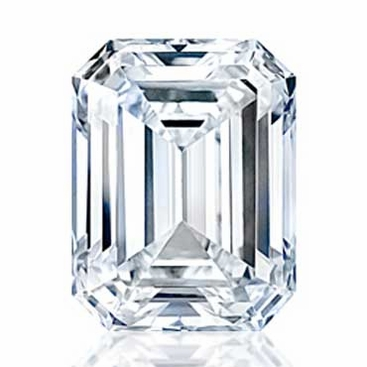 Charles and Colvard Emerald Cut Forever One Moissanite - click to enlarge