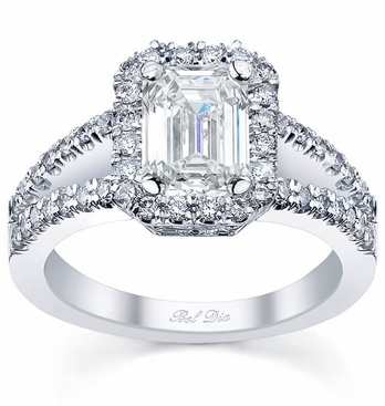 cut ring rings c image this with the engagement split shank shows diamond round a setting center sylvie brilliant