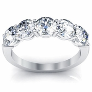 Diamond 5 Stone Ring Round Cut Diamonds Certified by the GIA