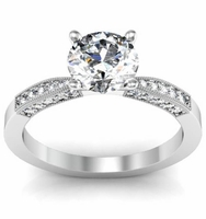 Petite Diamond Engagement Ring Setting 0.20cttw