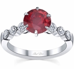 Engagement Ring with Round Ruby