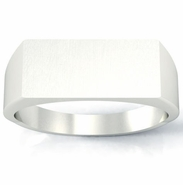 Engraved Signet Rings Surface Length 16mm