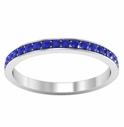 Eternity Band Pave Set with Blue Sapphires (0.50 cttw)