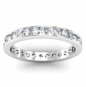 Eternity Channel Set Ring One Carat Round Channel Set Diamonds