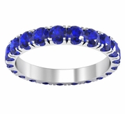 Eternity Ring of Blue Sapphires in U-Pave Setting