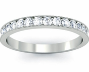 Eternity Ring with Single Row Pave and Milgrain