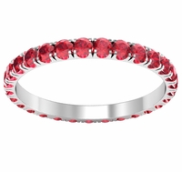 Eternity Ring with U-Pave Set Rubies