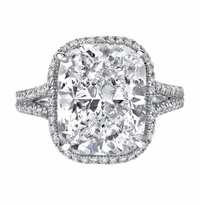 'Euphemia' Split Shank Halo Engagement Ring