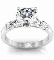 Five Diamond Engagement Ring