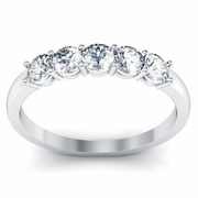 Five Stone Diamond Anniversary Ring 0.50 cttw