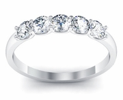 Five Stone Diamond Band