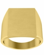 Flat Plain Signet Ring