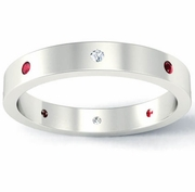 Flat Ruby and Diamond Landmark Eternity Ring