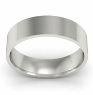 Flat Wedding Ring for Women 5mm