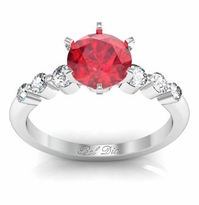 Floating Ruby Engagement Ring