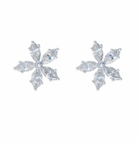 Floral Marquise Diamond Studs